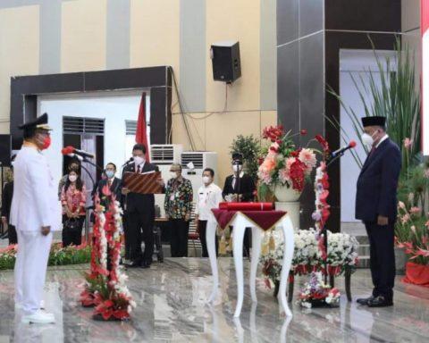 Pelantikan Walikota dan Wakil Walikota Kota Bitung terpilih