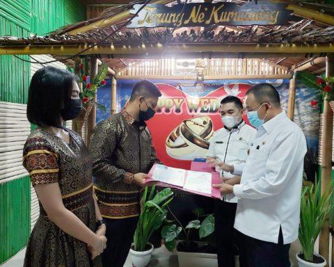 Wakil Walikota Tomohon mencatatkn perkawinan